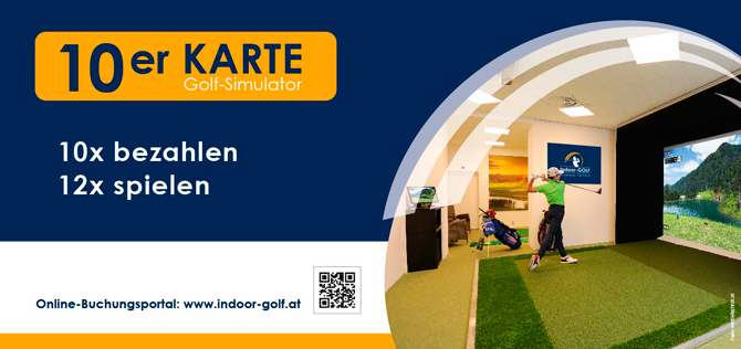 10-er Karte Golf-Simulator für Indoor-GOLF Fertala KG
